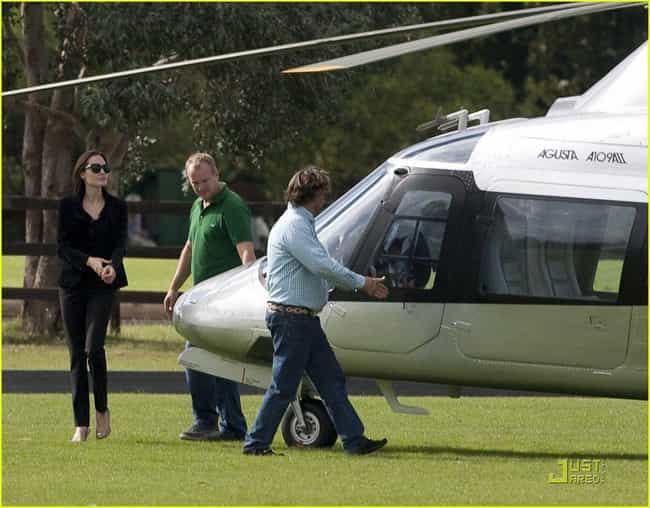 Angelina Jolie is listed (or ranked) 1 on the list Celebrities Who Own Helicopters