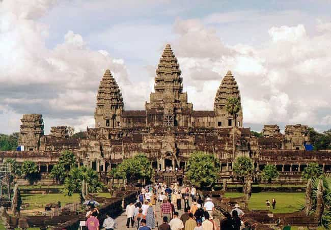 Angkor Wat is listed (or ranked) 4 on the list How All The World's Natural And Man-Made Wonders Are Being Affected By Climate Change