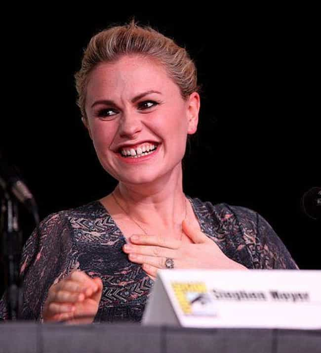 Anna Paquin is listed (or ranked) 1 on the list Celebrities With Gap Teeth
