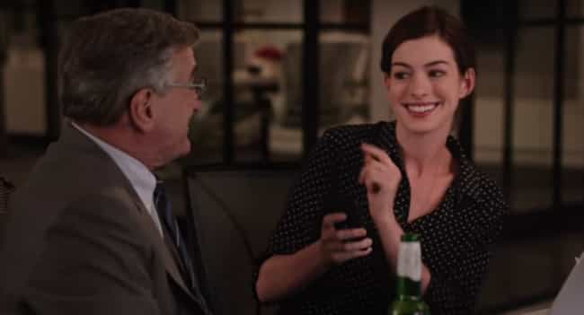 Anne Hathaway is listed (or ranked) 1 on the list The 12 Greatest Robert De Niro Co-Star Performances