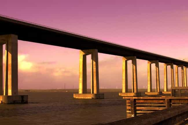 Antioch Bridge is listed (or ranked) 1 on the list Famous Bridges in California