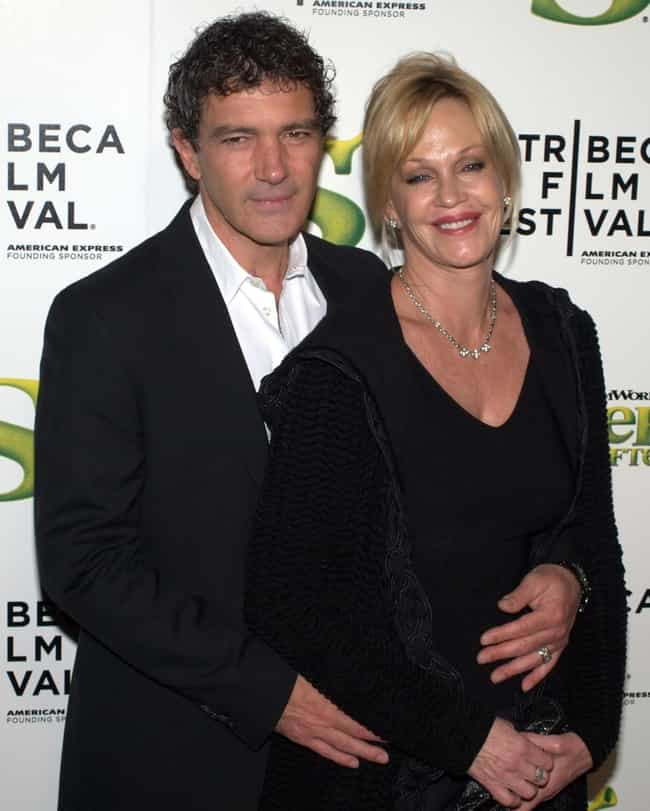Antonio Banderas is listed (or ranked) 1 on the list Melanie Griffith Loves and Hookups