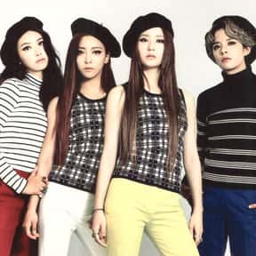f(x) is listed (or ranked) 20 on the list The Best K-pop Girl Groups Of All-Time