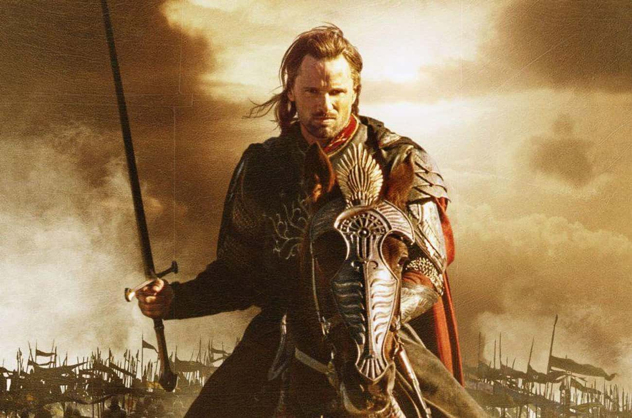 Aragorn is listed (or ranked) 2 on the list Which Fictional Fighter Would Destroy All Others In A Sword Fight?