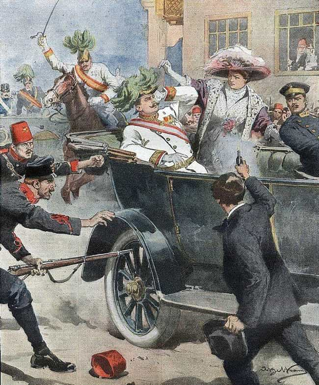 Archduke Franz Ferdinand... is listed (or ranked) 1 on the list The 12 Most Influential Royal Assassinations In World History