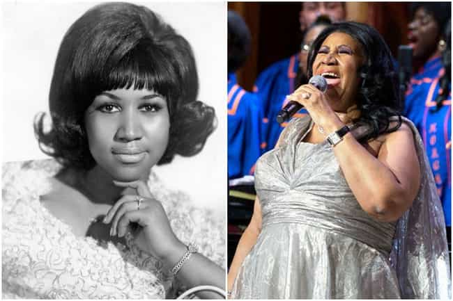 Aretha Franklin is listed (or ranked) 3 on the list What Famous Singers Looked Like At The Beginning And The End Of Their Careers