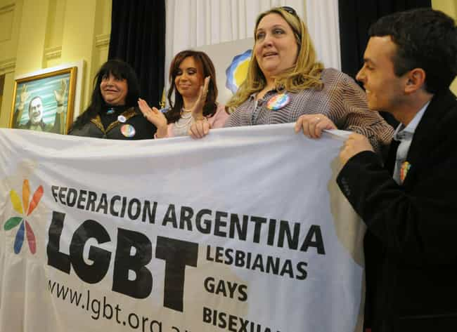 Argentina is listed (or ranked) 4 on the list Countries Where Gay Marriage is Legal