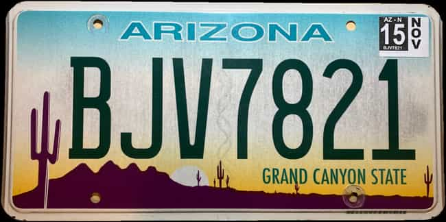Arizona is listed (or ranked) 3 on the list Every State License Plate Design, Ranked By How Much You Wish It Was On Your Ride