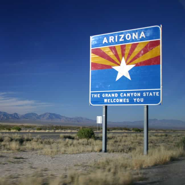 Arizona is listed (or ranked) 3 on the list 50 Bizarre State Laws