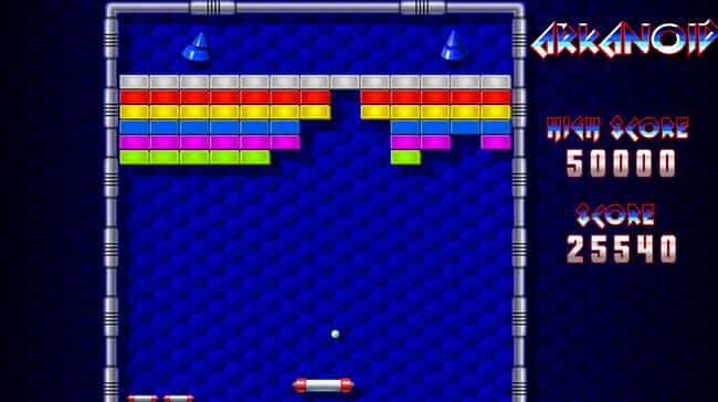 Arkanoid is listed (or ranked) 4 on the list 14 Hidden Backstories You Never Knew About Your Favorite Games