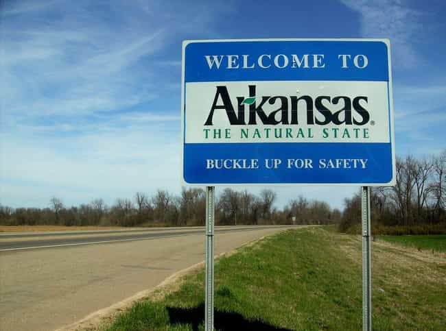Arkansas is listed (or ranked) 4 on the list How Did Every US State Get Its Name?