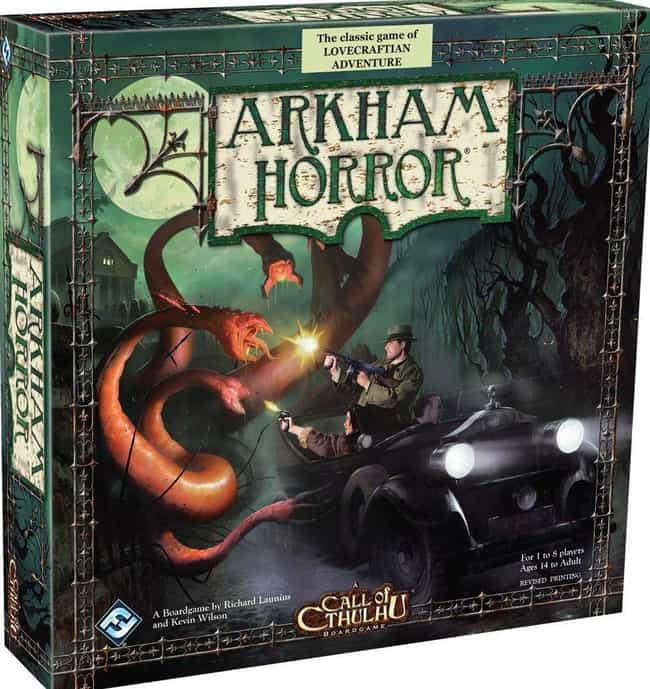 Arkham Horror is listed (or ranked) 3 on the list Best Single Player Board Games