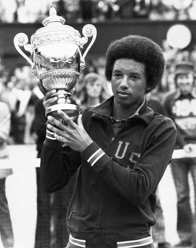 Arthur Ashe is listed (or ranked) 4 on the list Famous Male Tennis Players