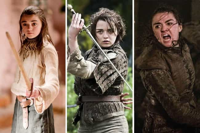 Arya Stark is listed (or ranked) 1 on the list All The Main GoT Character Arcs, Ranked