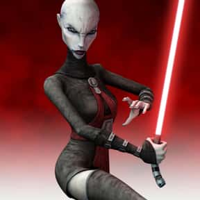 Asajj Ventress is listed (or ranked) 4 on the list My Top 30 Star Wars Expanded Universe Characters