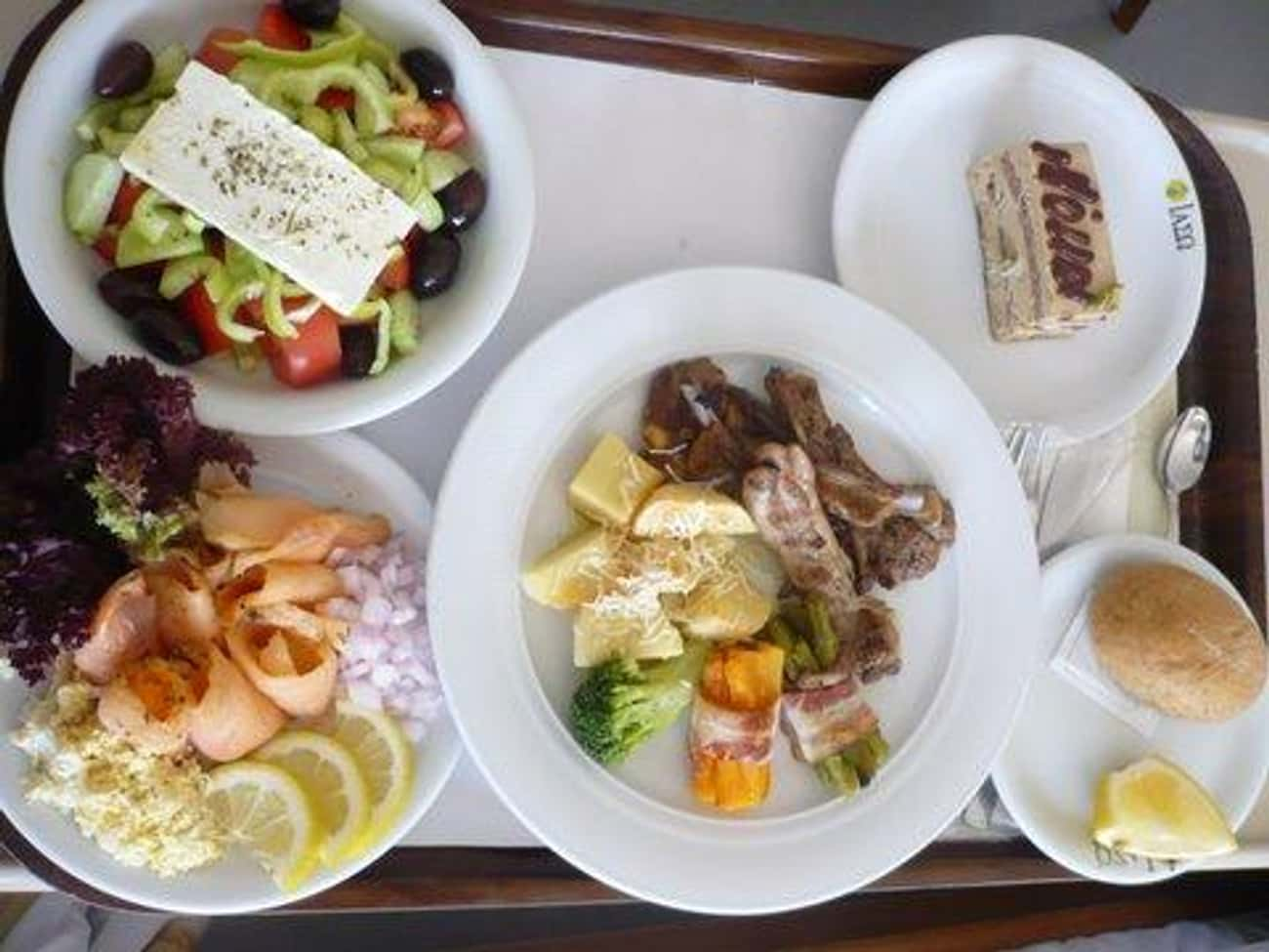 Athens, Greece is listed (or ranked) 1 on the list Here's What Hospital Food Looks Like Around the World