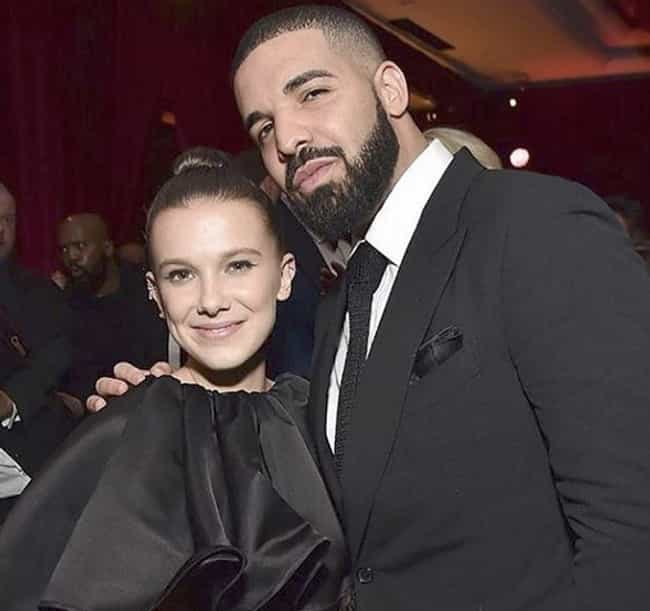 Drake is listed (or ranked) 2 on the list Famous Friends Of Millie Bobby Brown