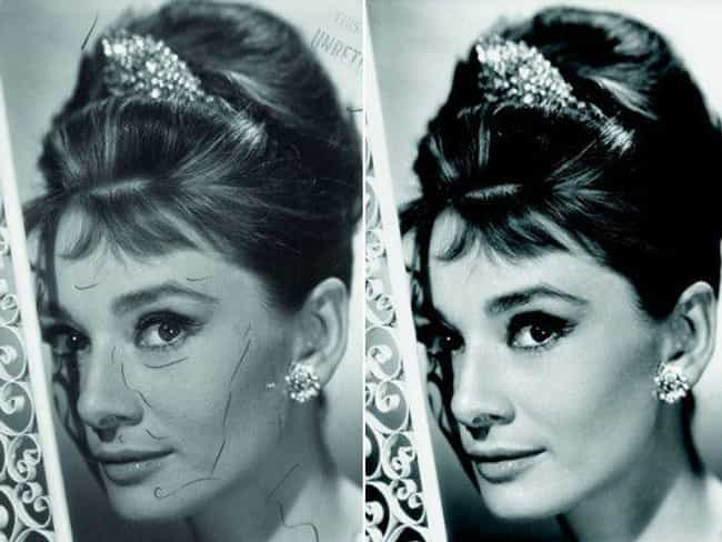 Audrey Hepburn is listed (or ranked) 1 on the list Doctored Photos Of Old Movie Stars Photoshopped Before Photoshop