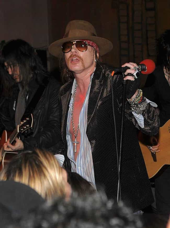Axl Rose is listed (or ranked) 3 on the list Celebrities Who Have Aged the Worst