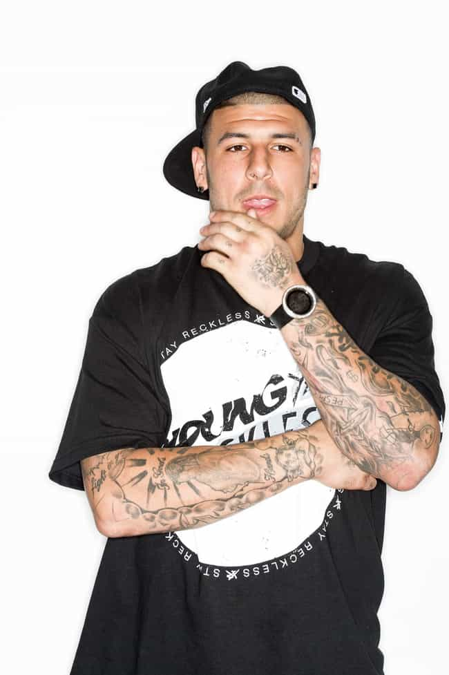 Aaron Hernandez is listed (or ranked) 3 on the list 22 Professional Athletes Who Died Young