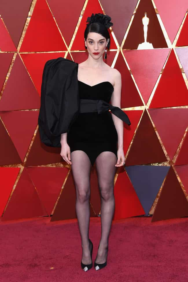 St. Vincent is listed (or ranked) 2 on the list Worst Dressed At The 2018 Academy Awards