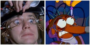 'A Clockwork Orange' - 'Dog Of is listed (or ranked) 2 on the list 'Simpsons' Movie Parodies You Probably Missed As A Kid, Ranked