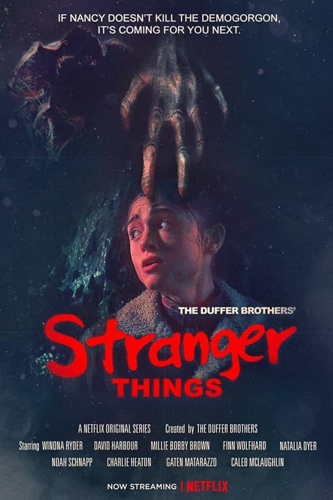 A Nightmare on Elm Street is listed (or ranked) 3 on the list '80s Inspired Stranger Things Posters