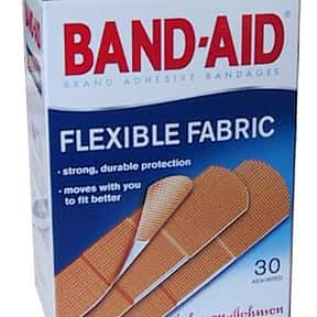 Band-Aid is listed (or ranked) 6 on the list All Johnson & Johnson Brands