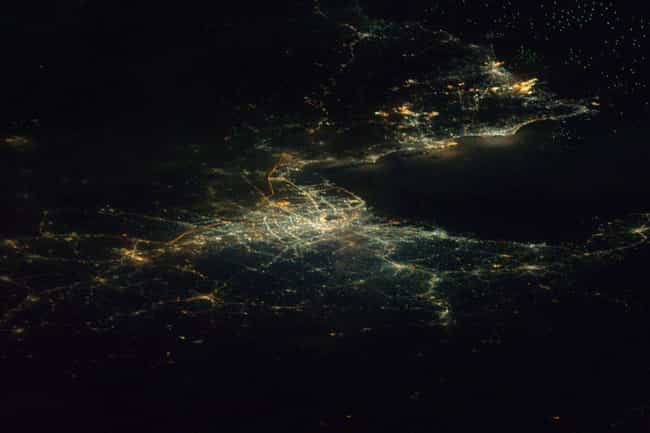 Bangkok is listed (or ranked) 8 on the list Cool Aerial Photos of Cities at Night
