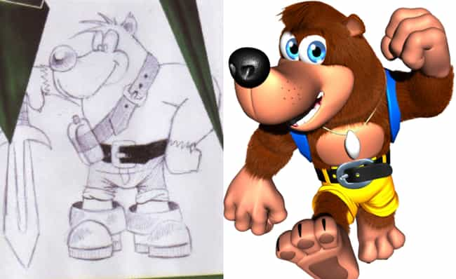 Banjo Bear is listed (or ranked) 4 on the list 15 Famous Video Game Character That Were Completely Different In The Beginning