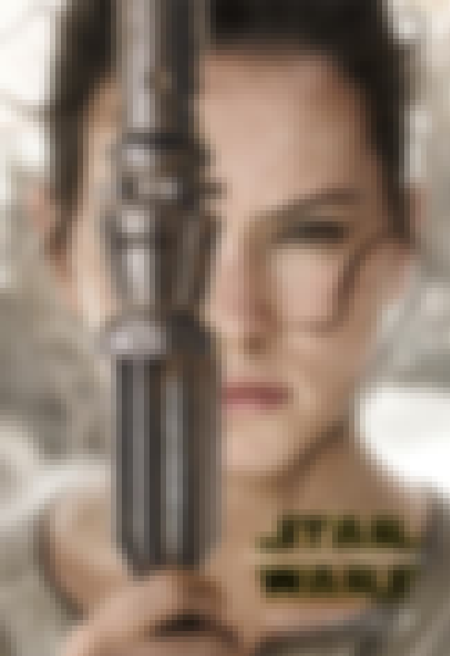 Rey is listed (or ranked) 1 on the list The Best Left Eyes on Star Wars: Force Awakens Posters