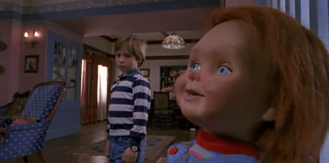 Chucky is listed (or ranked) 1 on the list 15 Supposedly Scary Movie Monsters Any Idiot Could Have Easily Defeated
