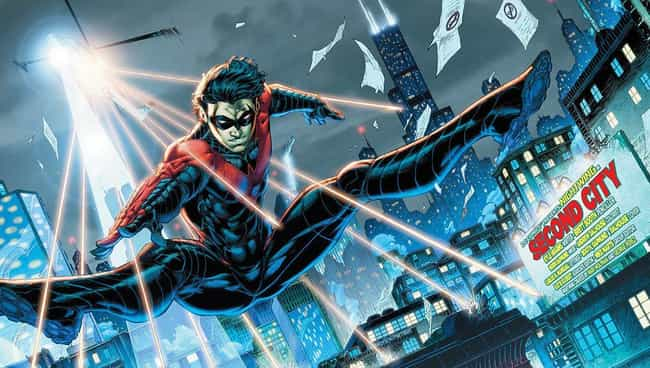 Nightwing is listed (or ranked) 3 on the list Which Street-Level Superhero Would Win In An All-Out Bare Knuckle Street Fight?