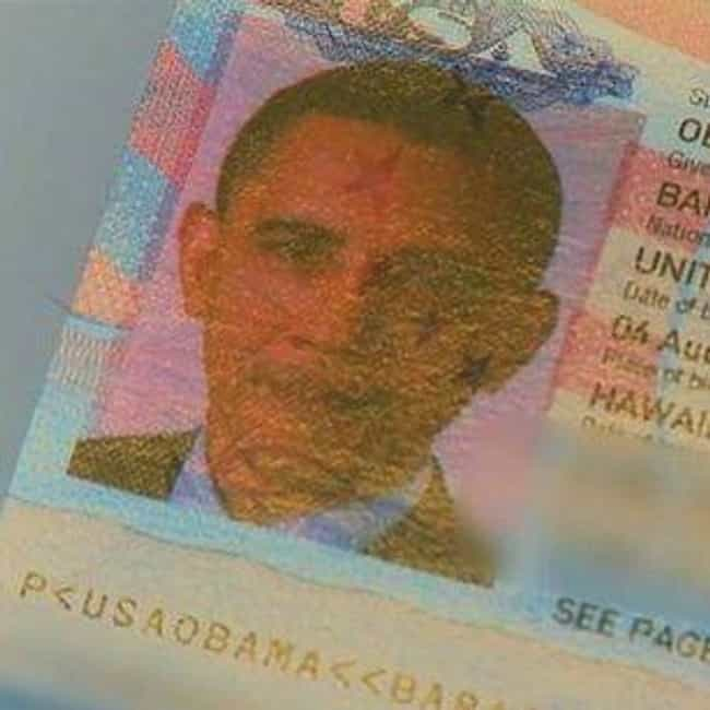 Barack Obama is listed (or ranked) 4 on the list Celebrity Passport Photos