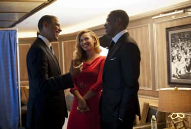 Barack Obama is listed (or ranked) 1 on the list The Many A-List Friends Of Beyoncé