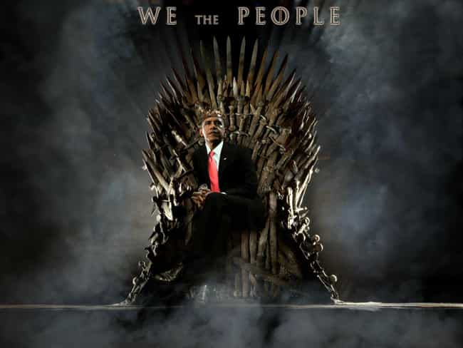 Barack Obama is listed (or ranked) 8 on the list 26 Famous People Sitting On The Iron Throne