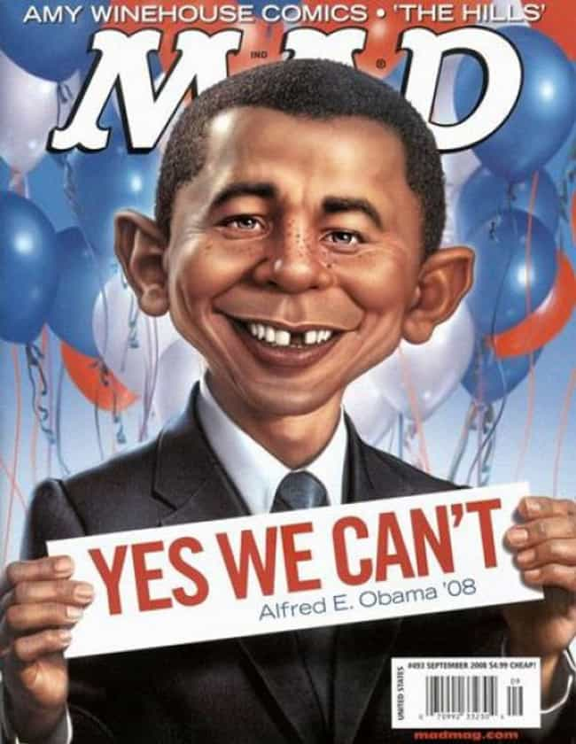 Barack Obama is listed (or ranked) 2 on the list The Best Mad Magazine Covers