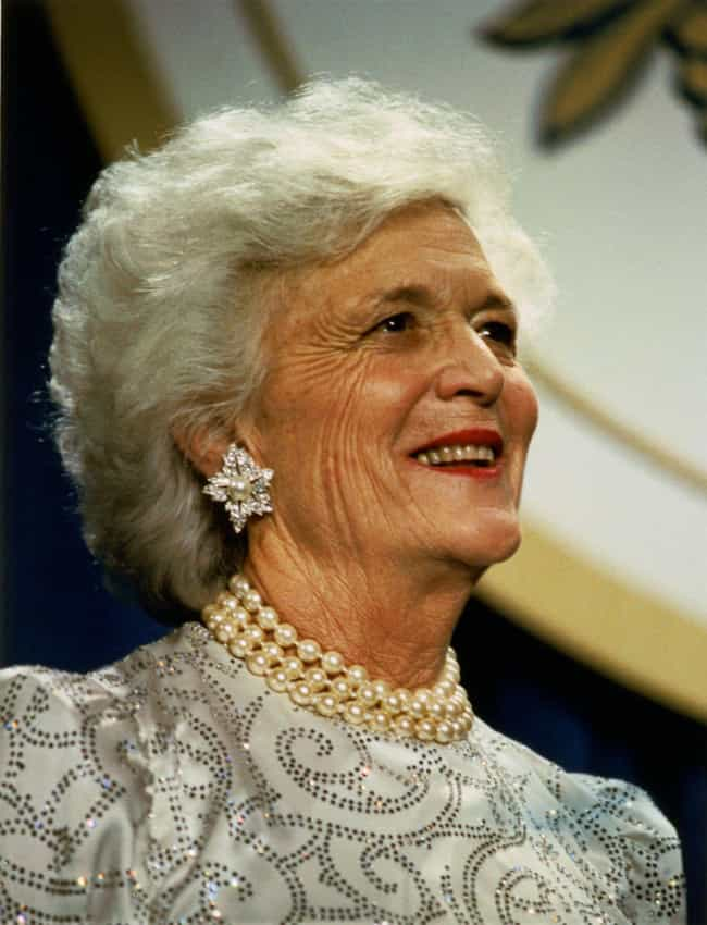 Barbara Bush is listed (or ranked) 2 on the list 9 Dumbest Celebrity Quotes Of The Decade