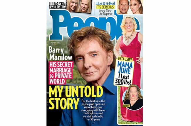 Barry Manilow is listed (or ranked) 3 on the list 35 Gay Stars Who Came Out to the Media