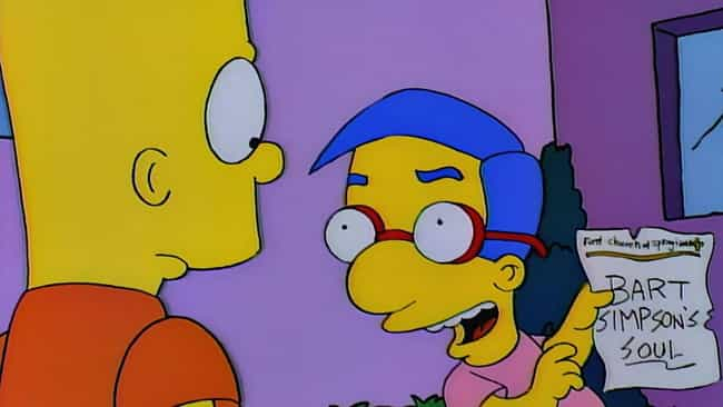 Bart Sells His Soul is listed (or ranked) 2 on the list The Best Milhouse Episodes of 'The Simpsons'