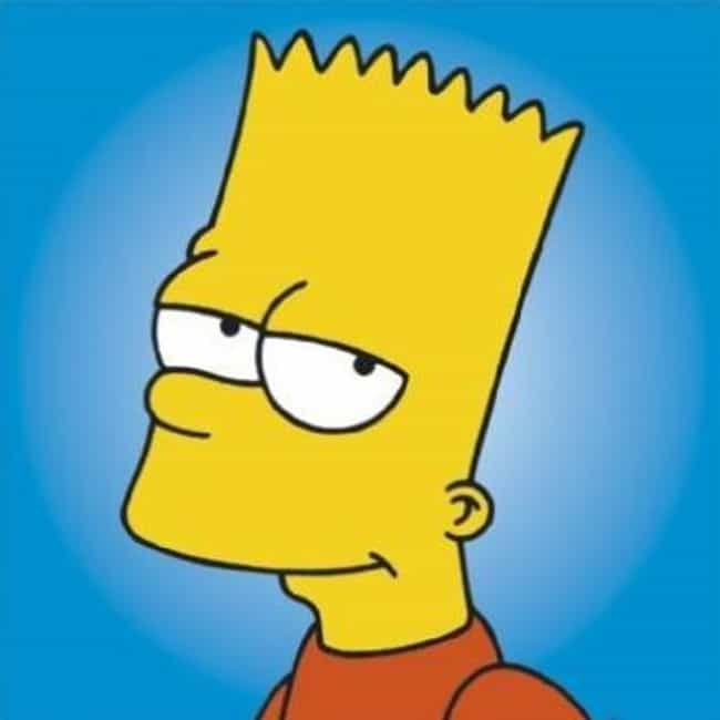 Bart Simpson Is Listed Or Ranked 2 On The List Popular Male Cartoon Characters