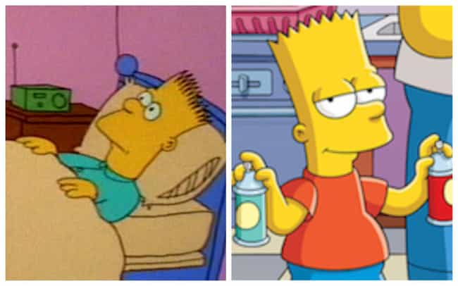 Bart Simpson is listed (or ranked) 3 on the list How The Simpsons Evolved Over Time