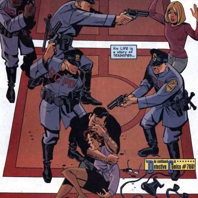 Batman is listed (or ranked) 2 on the list Superheroes Who Were Falsely Accused Of Heinous Crimes