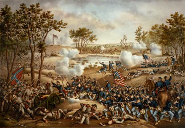 Battle of Cold Harbor is listed (or ranked) 13 on the list The 14 Bloodiest Battles Ever Fought On American Soil