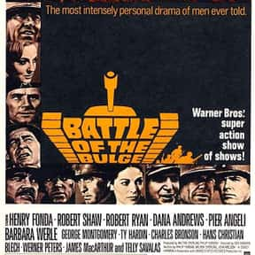 Battle of the Bulge is listed (or ranked) 18 on the list The Greatest World War II Movies of All Time