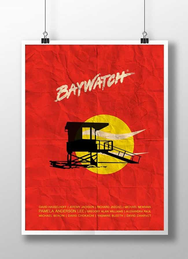 Baywatch is listed (or ranked) 3 on the list Awesome Minimalist TV Posters That Reveal Less Is More