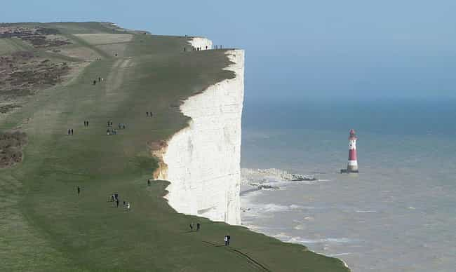 Beachy Head is listed (or ranked) 4 on the list 26 Famous Locations That Are Suicide Magnets