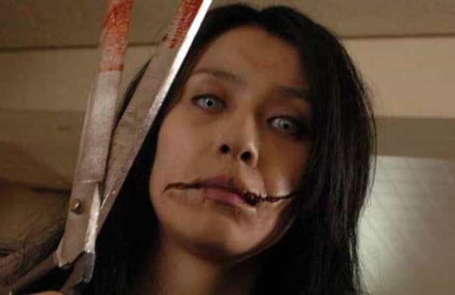 Carved: The Slit Mouthed Woman is listed (or ranked) 3 on the list 7 Creepy Japanese Urban Legends That Inspired Horror Films