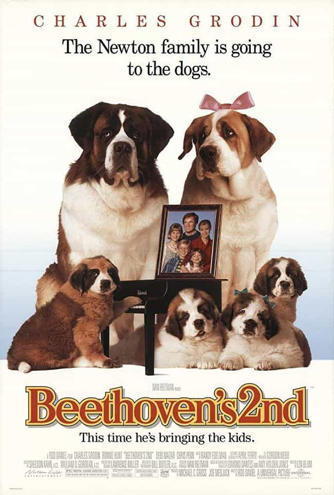 Beethoven's 2nd is listed (or ranked) 2 on the list The Best Beethoven Movies