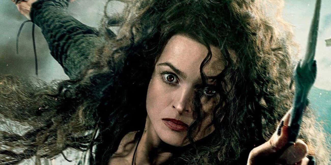 Bellatrix Lestrange - Chaotic  is listed (or ranked) 3 on the list Harry Potter Alignment Chart: Here's Where Our Favorite Characters Land